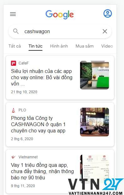 Cashwagon - App vay tiền bị bắt