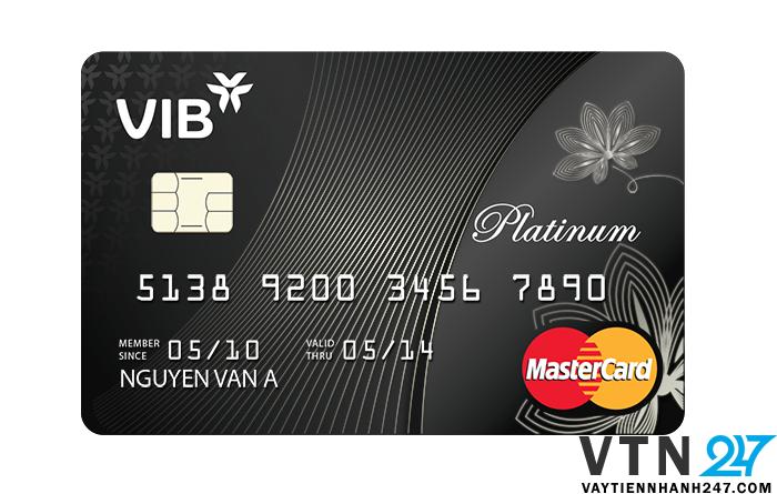 Thẻ đen của VIB - ngân hàng quốc tế